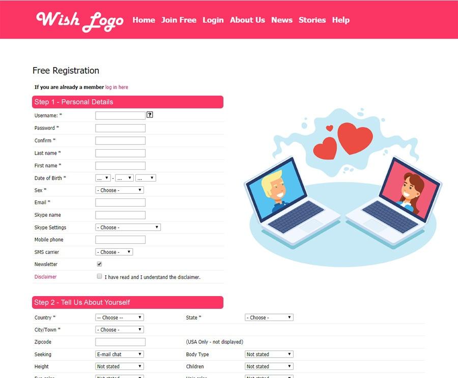 iDateMedia Registration Page