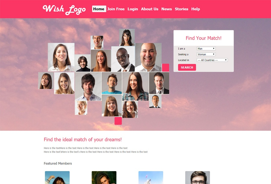 New Wish Dating Software Template