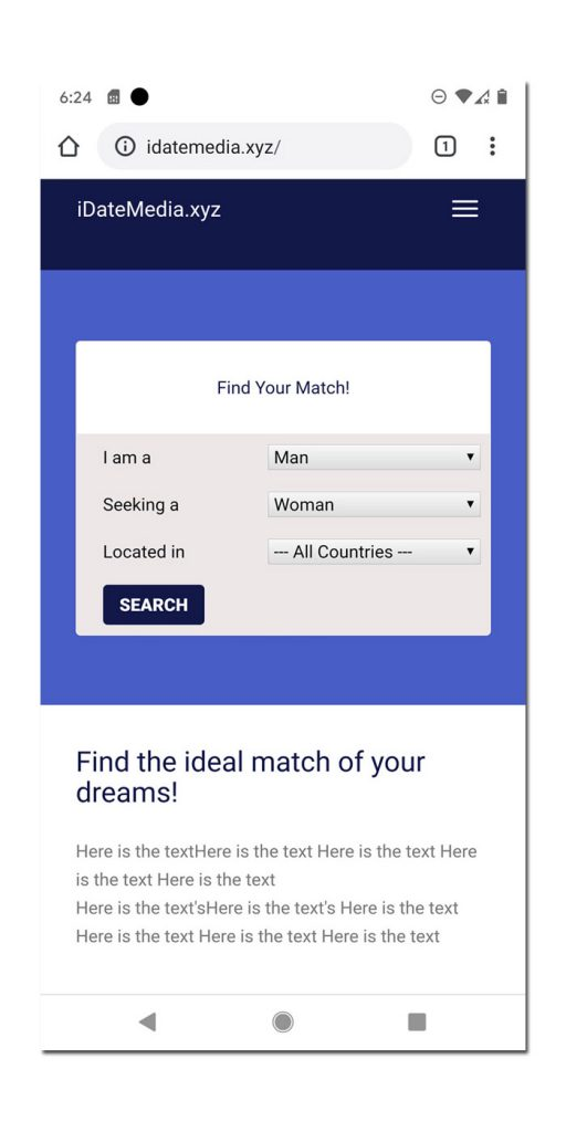 New Responsive Dating Software