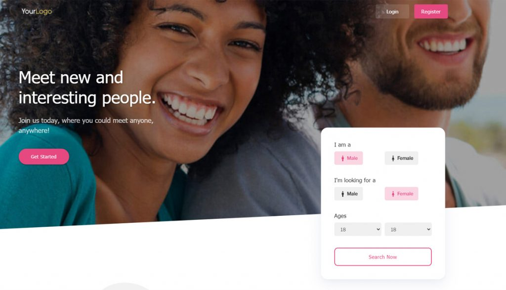 Introducing Blusk Dating Template